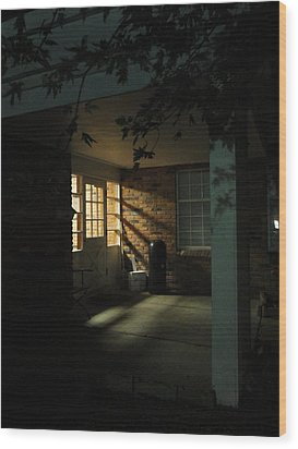 A Peaceful Corner Entrance Wood Print by Guy Ricketts