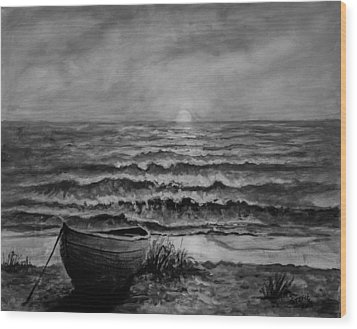 A Peaceful Evening  Wood Print by C Steele