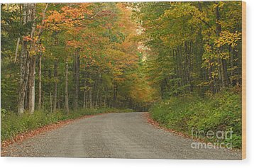 A Peaceful Road Wood Print by Charles Kozierok