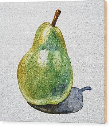 A Pear Wood Print by Irina Sztukowski