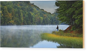 A Perfect Morning Wood Print by Wendell Thompson