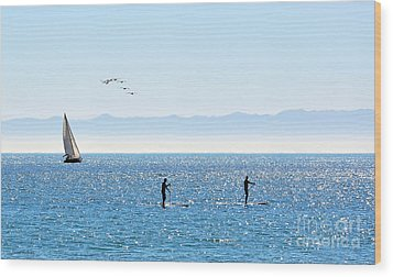 A Perfect Santa Barbara Day Wood Print by Susan Wiedmann