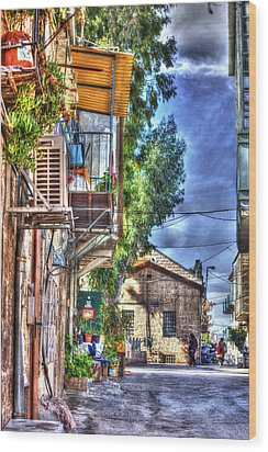 A Picturesque Street Wood Print