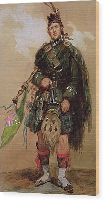 A Piper Of The 79th Highlanders At Chobham Camp Painting