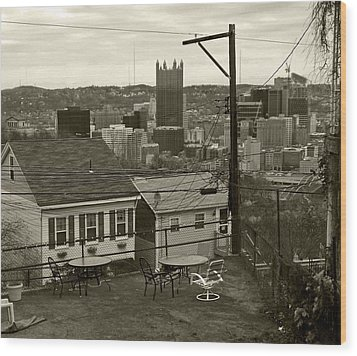 A Pittsburgh Backyard Wood Print by Joyce  Wasser