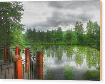A Place By The Lake Wood Print