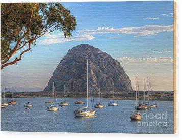 A Pleasant Day In Morro Bay Wood Print