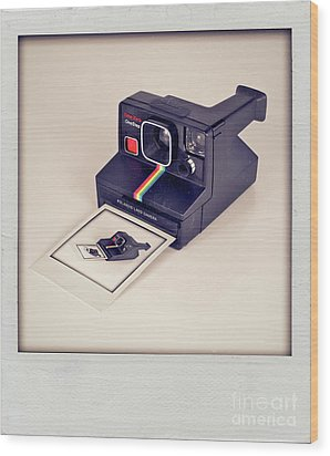 A Polaroid Of A Polaroid Taking A Polaroid Of A Polaroid Taking A Polaroid Of A Polaroid Taking A .. Wood Print by Mark Miller