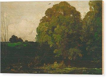 A Pond In The Morvan Wood Print by Charles Francois Daubigny