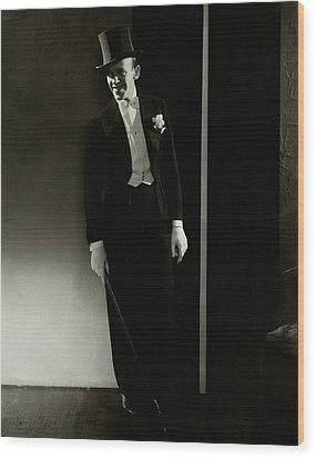 A Portrait Of Fred Astaire Wood Print by Edward Steichen