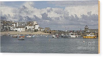 A Postcard From St Ives Wood Print by Terri Waters