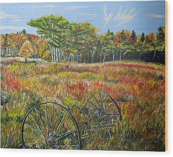 Wood Print featuring the painting A Prairie Treasure by Marilyn  McNish
