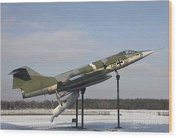 A Preserved F-104g Starfighter Wood Print by Timm Ziegenthaler