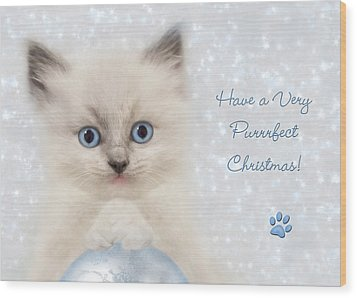 A Purrrfect Christmas Wood Print by Lori Deiter