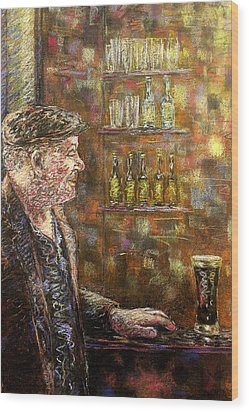 A Quiet Guinness Wood Print by John  Nolan