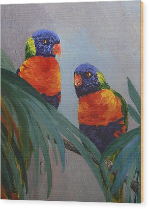 A Quiet Moment Together Wood Print by Margaret Saheed