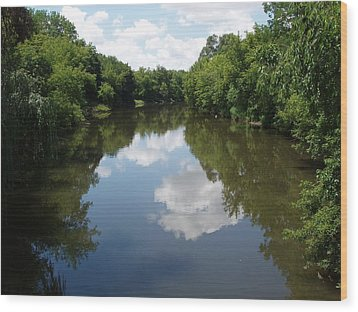 Wood Print featuring the photograph A Quiet River by Teresa Schomig