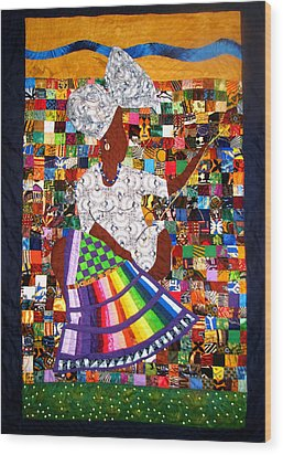 A Quilter's Dream Wood Print by Aisha Lumumba
