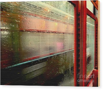 New Orleans Rainy Day Ride On The St. Charles Avenue Street Car In Louisiana Wood Print