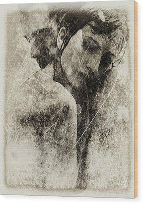 A Rainy Day We Need Closeness Wood Print by Gun Legler