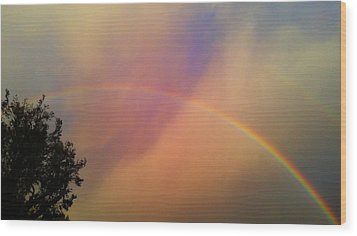 A Ranbow Wood Print by Chris Tarpening