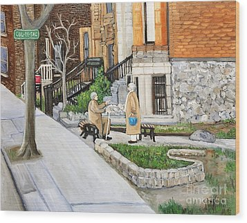 A Rest On Summerhill Avenue Wood Print by Reb Frost
