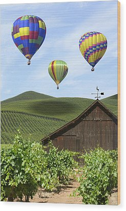 A Ride Through Napa Valley Wood Print by Mike McGlothlen
