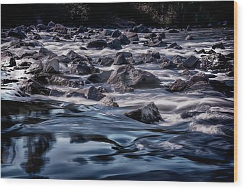 A River Called Iller Wood Print by Patrick Boening