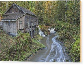 A River Flows Through It Wood Print by David Gn