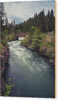 Wood Print featuring the photograph A River Runs Through It by Brian Bonham