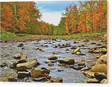 A River Runs Through It Wood Print by Frozen in Time Fine Art Photography