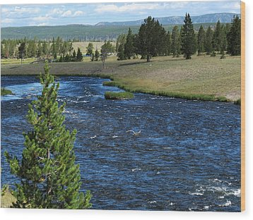 Wood Print featuring the photograph A River Runs Through Yellowstone by Laurel Powell