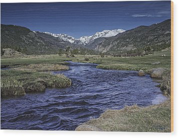 A River Runs Thru It Wood Print by Tom Wilbert