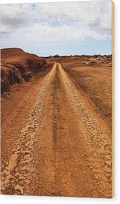 A Road Less Traveled Wood Print by DJ Florek