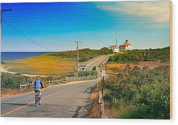A Road To Coast Guard Beach Eastham Cape Cod Wood Print by Dapixara Art