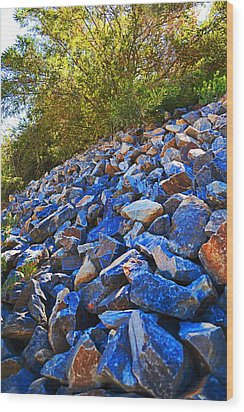 Wood Print featuring the photograph A Rocky Hill by Naomi Burgess