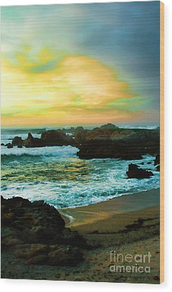 A Rocky Sunset Wood Print by Polly Peacock
