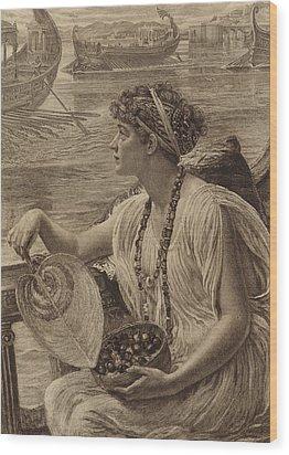 A Roman Boat Race Wood Print by English School