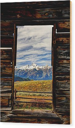A Room With A View Wood Print by Jean Hutchison