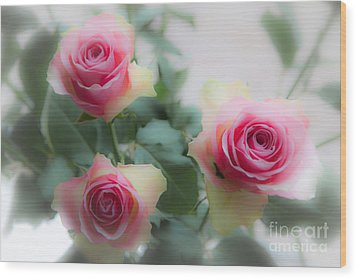 A Rose And A Rose And A Rose Wood Print