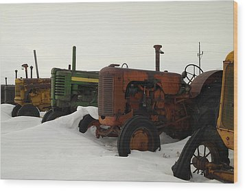A Row Of Relics Wood Print by Jeff Swan