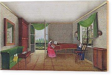 A Russian Interior Wood Print by Micheline Blenarska