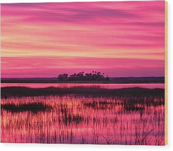 A Saint Helena Island Sunset Wood Print