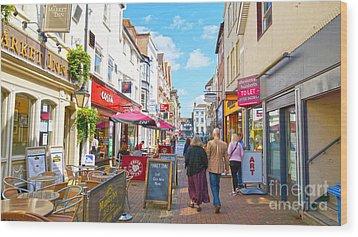 A Salisbury Street Stroll Wood Print