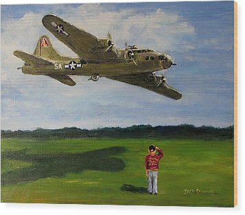 A Salute To The Greatest Generation Wood Print by Jack Skinner