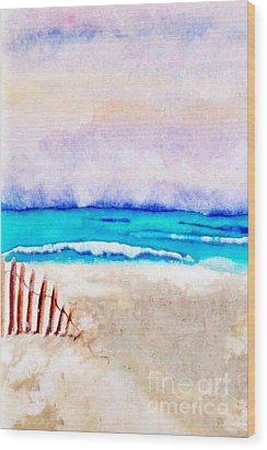 A Sand Filled Beach Wood Print by Chrisann Ellis