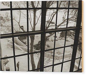 Wood Print featuring the photograph A Scenery Of Monterey Bay Aquarium by Hiroko Sakai