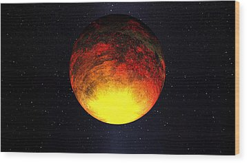 A Scorched World Kepler-10b  Wood Print by Movie Poster Prints