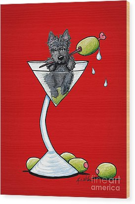 A Scottish Martini Wood Print by Kim Niles