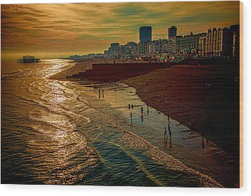 Wood Print featuring the photograph A September Evening In Brighton by Chris Lord